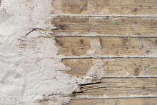 Weathered Wooden Boardwalk On ...