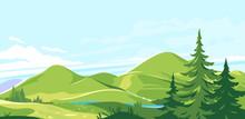 Mountain Range Landscape Backg...