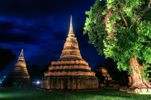 Sukhothai Historical Park, The Old Town Of Thailand , They Are Public Domain Or Treasure Of Buddhism