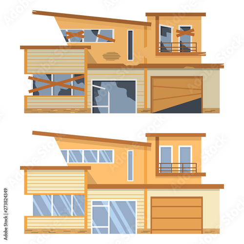 Modern House Before And After Repair Old Run Down Home Renovation Building Flat Vector Buy This Stock Vector And Explore Similar Vectors At Adobe Stock Adobe Stock,Parmesan Crusted Chicken