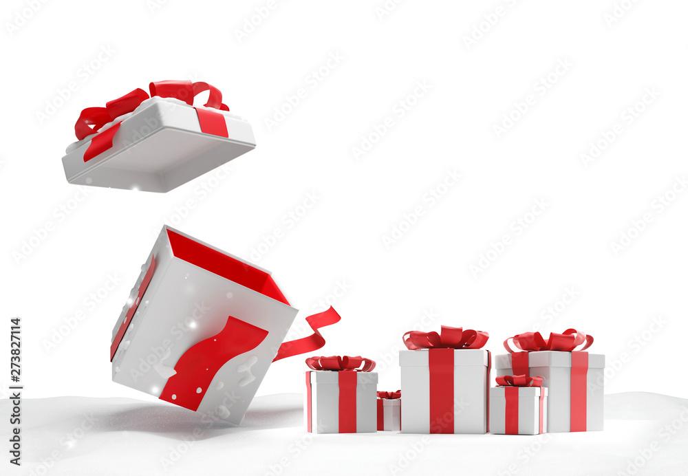 Fototapety, obrazy: christmas presents 3d-illustration