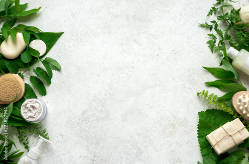 Natural skincare and leaves - 273827944