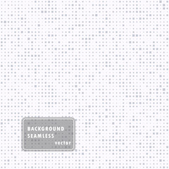 Abstract seamless illustration of halftone squares. Monochrome repeating geometric elements. Vector template, the ability to overlay. Isolated background.