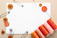 Set Of Sewing Threads With Acc...