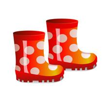 Cute Children's Rubber Boots. ...