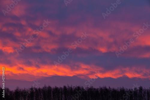 Papiers peints Grenat Clouds sunrise