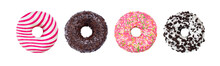Donuts Set Isolated On White. ...