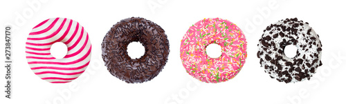 Pinturas sobre lienzo  Donuts Set Isolated on White