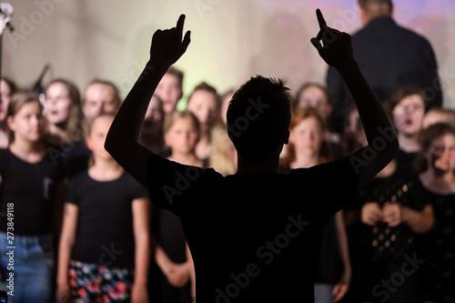 Fotografia Dirigent beim Konzert