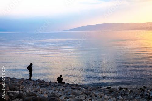 Canvas-taulu Sea of Galilee, in the evening.
