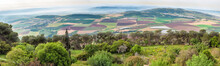 Israel Panorama Of The Valley From Mount Tabor.