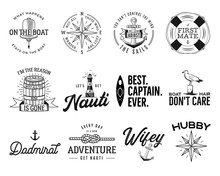 Set Of Nautical Logos, Marine ...