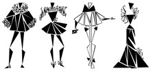 Silhouettes Of Fashion Suits S...