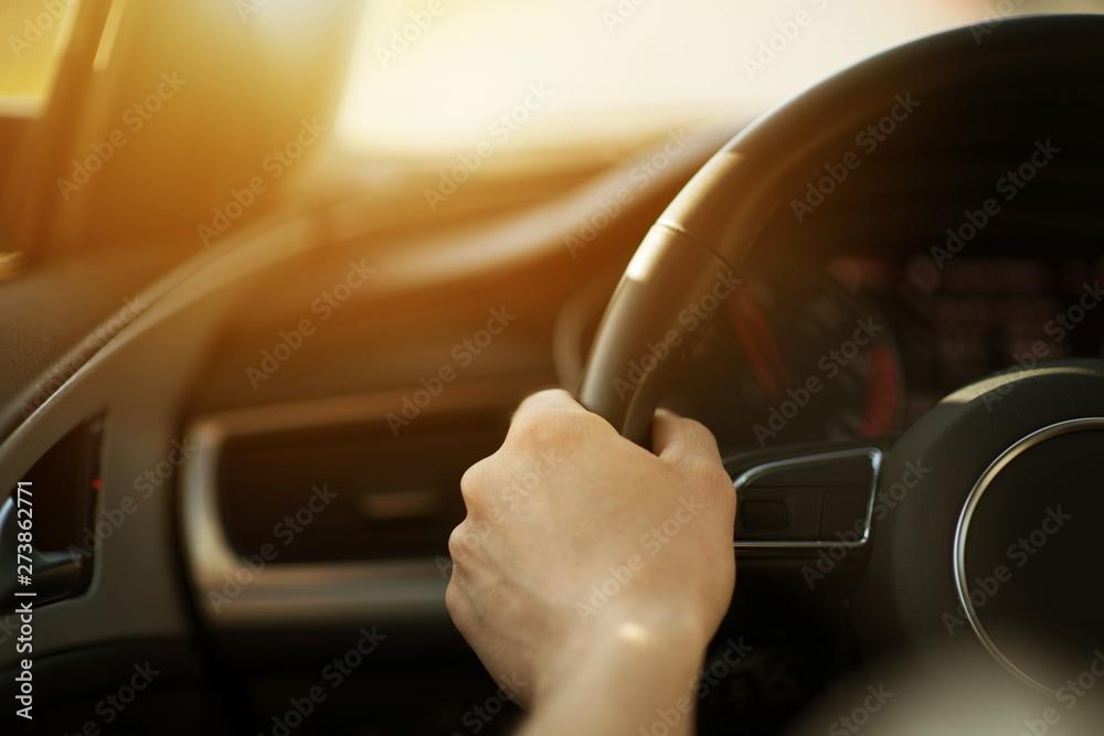 Fototapety, obrazy: Modern Sporty Car Handling