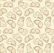 Piece of loaf. Vector pattern