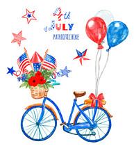 4th Of July Patriotic Bicycle....