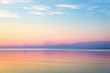 canvas print picture - Seascape with colorful evening sky. Natural background. Beautiful sunset over the sea in the Atlantic ocean.
