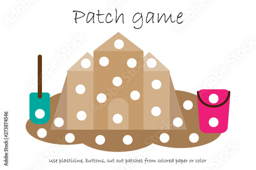 graphic regarding Printable Patches identify Schooling Patch match sand castle for young children in direction of establish