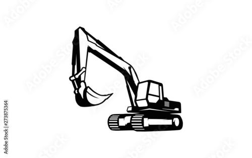 Canvastavla Excavator logo template vector