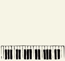 Piano Keys. Vector Drawing