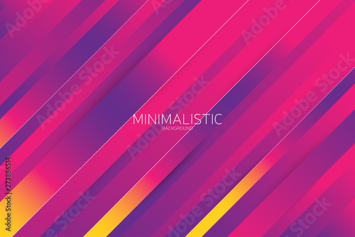 Line diagonal background with colorful trendy gradient Fotobehang