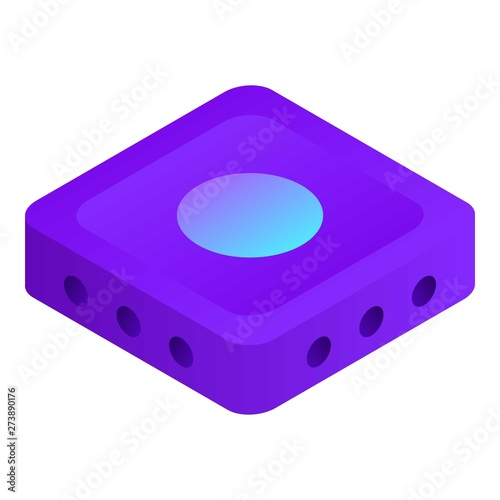 Wifi router icon  Isometric of wifi router vector icon for