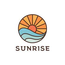 Sunrise Beach Logo Design Inspiration