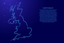 Great Britain Map From The Con...