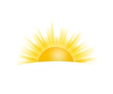 Realistic Sun Icon For Weather...
