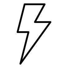 Lighting Bolt Icon. Outline Li...