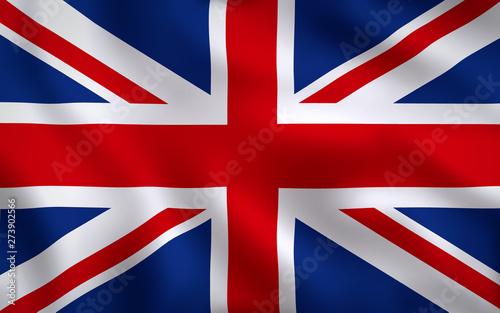 Fotografie, Obraz  UK Flag Image Full Frame