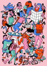 Illustration Of Crowd Of Chara...