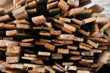 Stacks Of Packed Lumber - Slat...