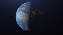 Photo Of Earth Seen From Space With City Lighting