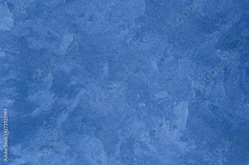 Fototapety, obrazy: Texture of blue decorative plaster or stucco or concrete. Abstract background for design.