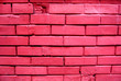 Leinwanddruck Bild - background texture old wall pink brick