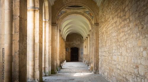 interior of an old church castle in UK Canvas Print
