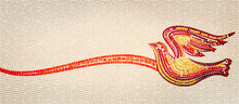 Holy Spirit Mosaic. Confirmation Concept. Christian Banner