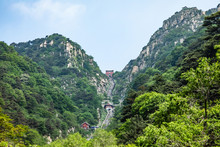Summer Landscape Of Taishan, China