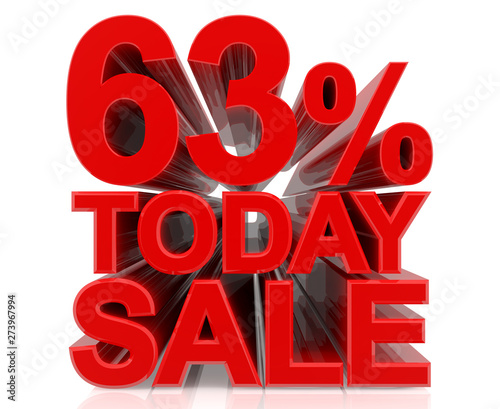 Fotografie, Tablou  63% TODAY SALE word on white background 3d rendering