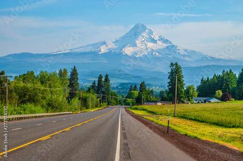 Beautiful Clear Skies Over Mount Hood in Oregon Wallpaper Mural