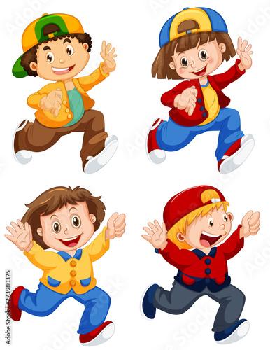 Fotobehang Kids Set of people character