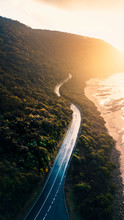 Aerial View Of Great Ocean Road And Beaches Of Victoria, Australia