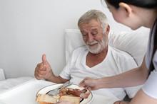 Senior Man With Smiling Nurse,...