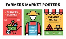 Vector Farmers Market Event Poster Set