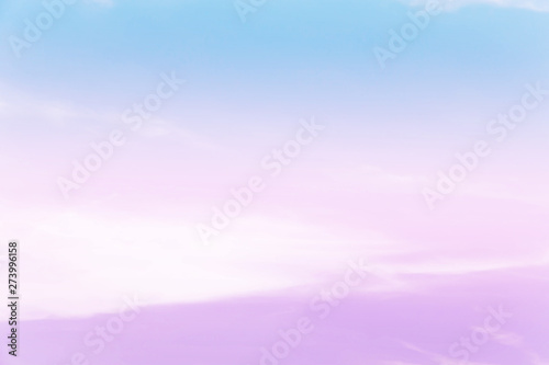 Fototapety, obrazy: Soft cloudy is gradient pastel,Abstract sky background in sweet color.