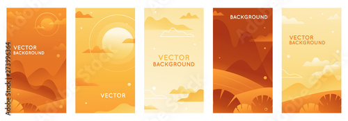Fotografia  Vector illustration in trendy flat style and bright vibrant gradient colors with