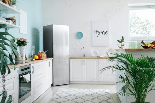 Obraz Interior of modern comfortable kitchen - fototapety do salonu