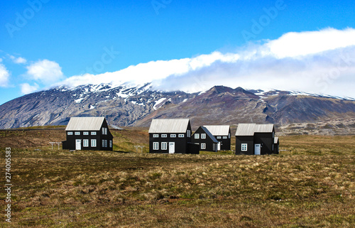 Pleasant Landscape With Black Houses In Snaefellsnes Peninsula With Download Free Architecture Designs Xoliawazosbritishbridgeorg