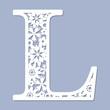 Laser cutting pattern. Letter L. Vector